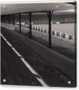 Southport Fc - Haig Avenue - Scarisbrick End 1 - Bw - Early 60s Acrylic Print