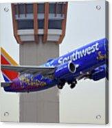 Southwest 737-7l9 N7816b Coco Phoenix Sky Harbor November 30 2017 Acrylic Print