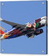 Southwest 737 Illinois One At Phoenix Sky Harbor December 2 2010 Acrylic Print