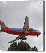 Southwest Airlines 737 On Approach Into Las Vegas Nv Acrylic Print