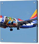 Southwest Boeing 737-7h4 N280wn Missouri One Phoenix Sky Harbor January 24 2016 Acrylic Print