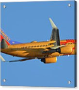 Southwest Boeing 737-7h4 N781wn New Mexico One Phoenix Sky Harbor November 11 2017 Acrylic Print