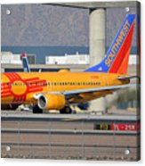 Southwest Boeing 737-7h4 N781wn New Mexico Phoenix Sky Harbor January 17 2016 Acrylic Print