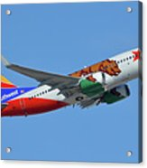 Southwest Boeing 737-7h4 N943wn California One Phoenix Sky Harbor October 16 2017 Acrylic Print