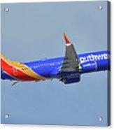 Southwest Boeing 737-8 Max N8708q Phoenix Sky Harbor October 10 2017 Acrylic Print