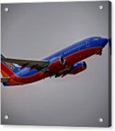Southwest Departure Acrylic Print by Ricky Barnard