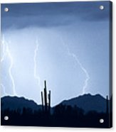 Southwest Desert Lightning Blues Acrylic Print