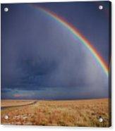 Southwest Double Rainbow Acrylic Print