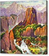 Southwest Mountain Floodwaters Acrylic Print