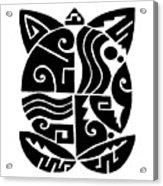 Southwest Tribal Tortuga Acrylic Print