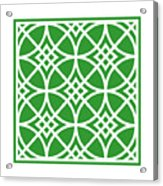 Southwestern Inspired With Border In Dublin Green Acrylic Print