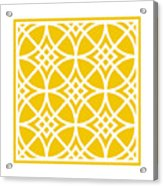 Southwestern Inspired With Border In Mustard Acrylic Print