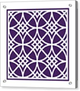 Southwestern Inspired With Border In Purple Acrylic Print