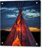 Southwestern Teepee Sunset Acrylic Print