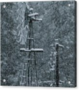 Southworth Windmill Snow Bound Acrylic Print