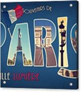 Souvernirs De Paris Acrylic Print