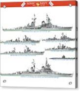 Soviet Navy, early cold war Acrylic Print