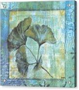 Spa Gingko Postcard 1 Acrylic Print