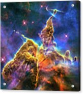 Space Image Mystic Mountain Carina Nebula Acrylic Print