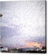 Space Needle And Emp At Sunset Acrylic Print