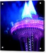 Space Needle Fireworks Acrylic Print