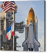Space Shuttle Atlantis Sitting Acrylic Print by Mike Theiss