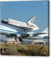 Space Shuttle Discovery Departs Edwards Afb August 19 2005 Acrylic Print
