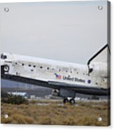 Space Shuttle Discovery Lands At Edwards Afb September 11 2009 Acrylic Print