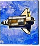 Space Shuttle In Space - Da Acrylic Print