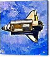 Space Shuttle In Space - Pa Acrylic Print
