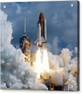 Space Shuttle Launching Acrylic Print