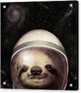 Space Sloth Acrylic Print