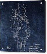 Space Suit Patent Illustration Acrylic Print