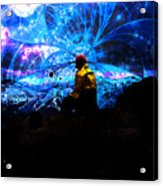 Space Watcher Acrylic Print by Bear Welch