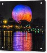 Spaceship Earth Reflection Acrylic Print