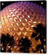 Spaceship Earth Shimmers Acrylic Print