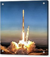Spacex Iridium-5 Mission Falcon 9 Rocket Launch Acrylic Print