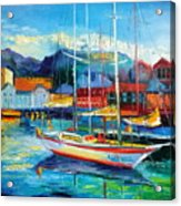 Spain Boats Acrylic Print
