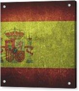Spain Distressed Flag Dehner Acrylic Print