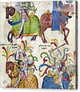 Spain: Knights, C1350 Acrylic Print