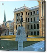 Spanish American War Memorial At Lucas County Courthouse 0098 Acrylic Print