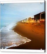 Spanish Beach Chalets Acrylic Print