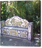 Spanish Bench Acrylic Print