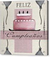 Spanish Birthday Greeting Card Acrylic Print