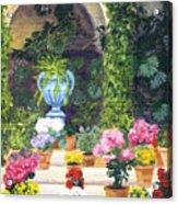 Spanish Courtyard Acrylic Print