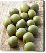 Spanish Manzanilla Olives Acrylic Print by Frank Tschakert