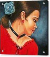 Spanish Rose Acrylic Print