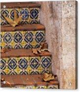 Spanish Tile Stair  Acrylic Print