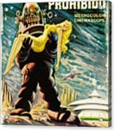 Spanish Version Of Forbidden Planet In Cinemascope Retro Classic Movie Poster Acrylic Print