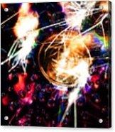 Sparking Rainbow Cd Acrylic Print